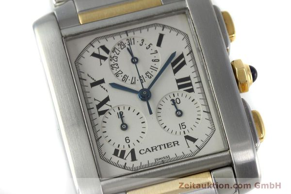 Used luxury watch Cartier Tank Francaise chronograph steel / gold quartz Kal. 212P Ref. 2303  | 151850 02