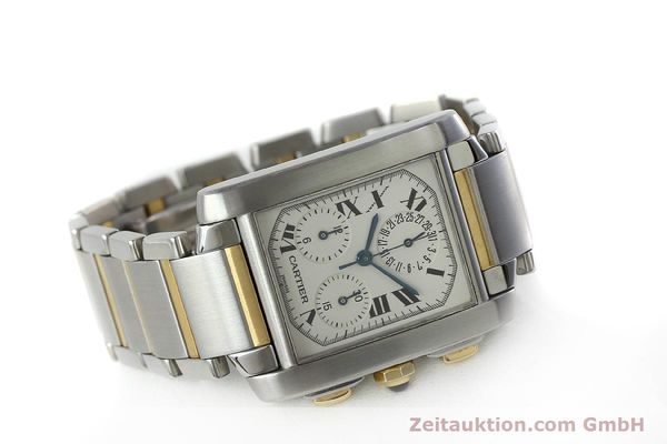 Used luxury watch Cartier Tank Francaise chronograph steel / gold quartz Kal. 212P Ref. 2303  | 151850 03