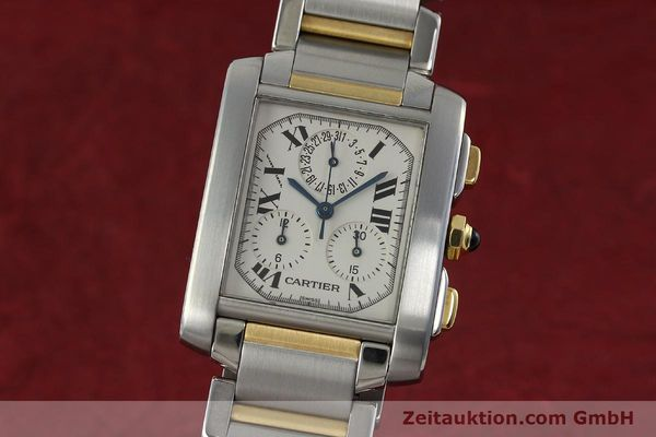 Used luxury watch Cartier Tank Francaise chronograph steel / gold quartz Kal. 212P Ref. 2303  | 151850 04