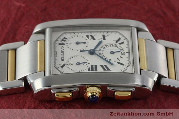 Used luxury watch Cartier Tank Francaise chronograph steel / gold quartz Kal. 212P Ref. 2303  | 151850 05