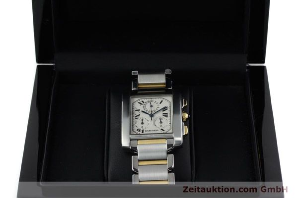 Used luxury watch Cartier Tank Francaise chronograph steel / gold quartz Kal. 212P Ref. 2303  | 151850 07