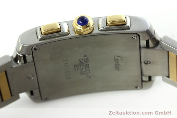 Used luxury watch Cartier Tank Francaise chronograph steel / gold quartz Kal. 212P Ref. 2303  | 151850 08