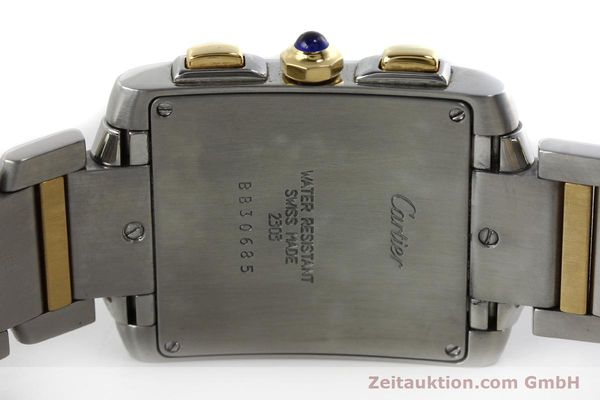 Used luxury watch Cartier Tank Francaise chronograph steel / gold quartz Kal. 212P Ref. 2303  | 151850 09