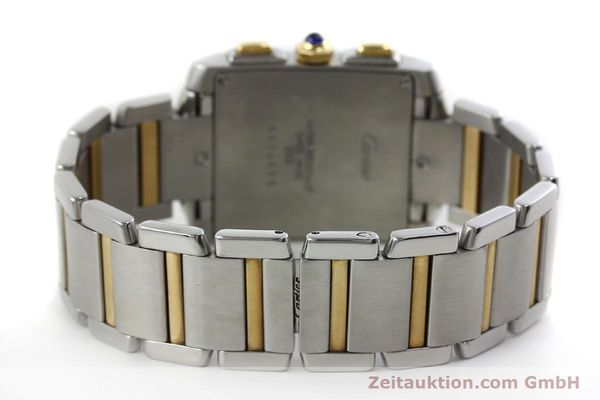 Used luxury watch Cartier Tank Francaise chronograph steel / gold quartz Kal. 212P Ref. 2303  | 151850 10