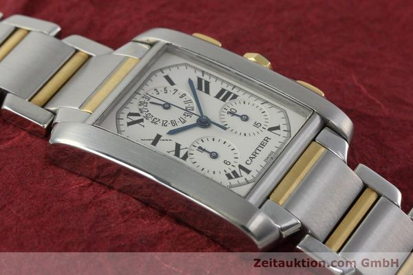 Used luxury watch Cartier Tank Francaise chronograph steel / gold quartz Kal. 212P Ref. 2303  | 151850 12