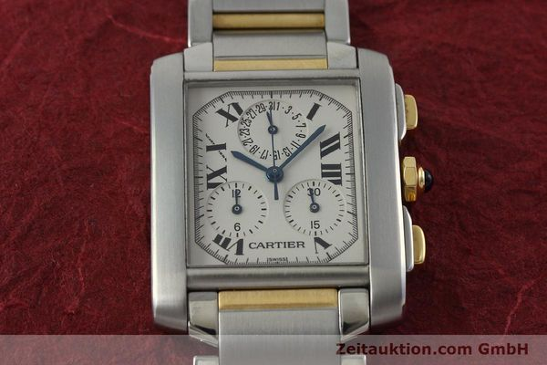 Used luxury watch Cartier Tank Francaise chronograph steel / gold quartz Kal. 212P Ref. 2303  | 151850 13