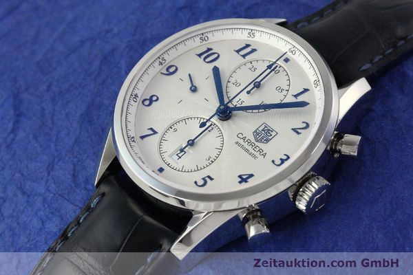Used luxury watch Tag Heuer Carrera chronograph steel automatic Kal. 16 Ref. EKW9377  | 151863 01