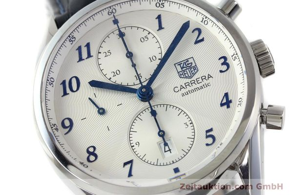 Used luxury watch Tag Heuer Carrera chronograph steel automatic Kal. 16 Ref. EKW9377  | 151863 02