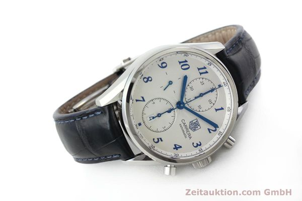 Used luxury watch Tag Heuer Carrera chronograph steel automatic Kal. 16 Ref. EKW9377  | 151863 03
