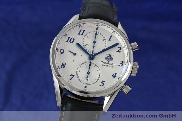 Used luxury watch Tag Heuer Carrera chronograph steel automatic Kal. 16 Ref. EKW9377  | 151863 04