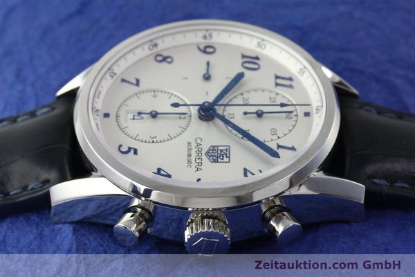 Used luxury watch Tag Heuer Carrera chronograph steel automatic Kal. 16 Ref. EKW9377  | 151863 05