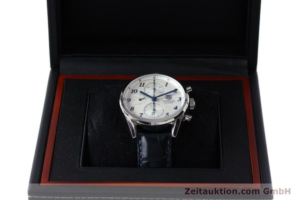Used luxury watch Tag Heuer Carrera chronograph steel automatic Kal. 16 Ref. EKW9377  | 151863 07