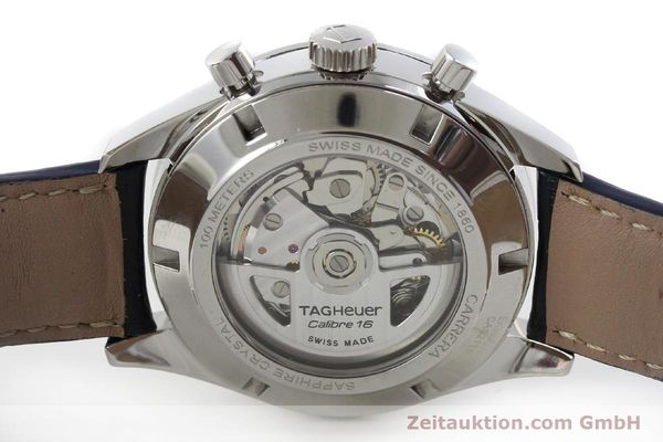 Used luxury watch Tag Heuer Carrera chronograph steel automatic Kal. 16 Ref. EKW9377  | 151863 09