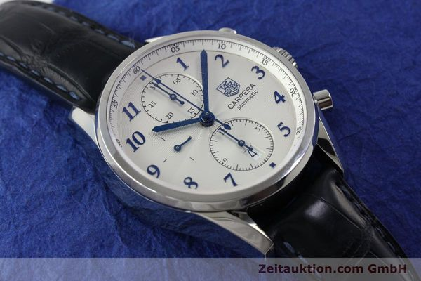 Used luxury watch Tag Heuer Carrera chronograph steel automatic Kal. 16 Ref. EKW9377  | 151863 15