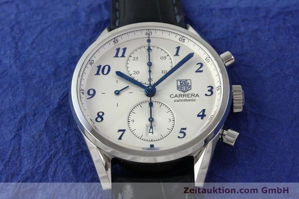 Used luxury watch Tag Heuer Carrera chronograph steel automatic Kal. 16 Ref. EKW9377  | 151863 16