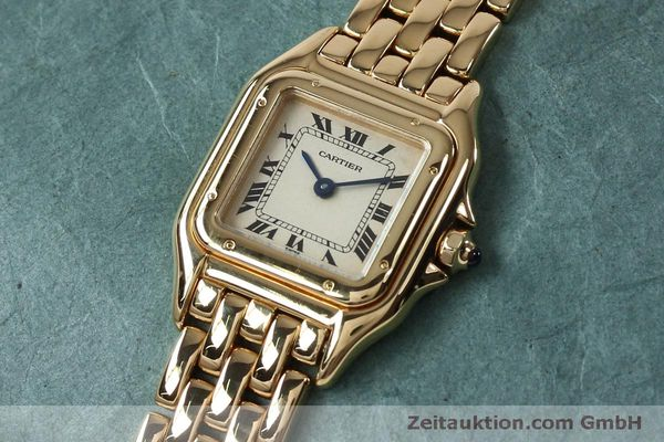 Used luxury watch Cartier Panthere 18 ct gold quartz Kal. 057  | 151866 01