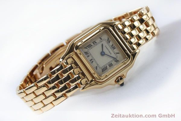 Used luxury watch Cartier Panthere 18 ct gold quartz Kal. 057  | 151866 03