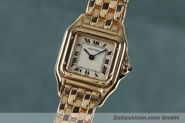 Used luxury watch Cartier Panthere 18 ct gold quartz Kal. 057  | 151866 04