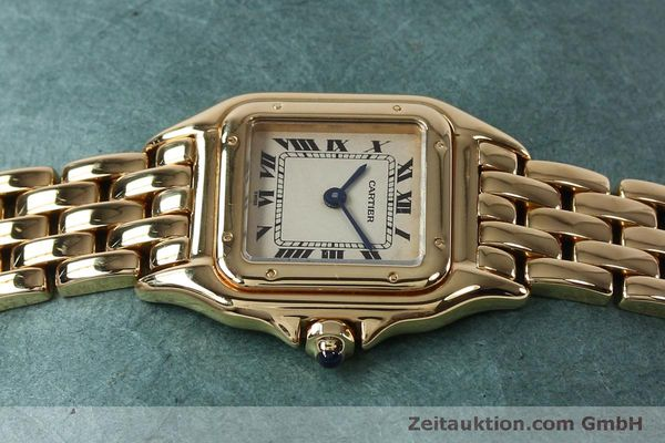 Used luxury watch Cartier Panthere 18 ct gold quartz Kal. 057  | 151866 05
