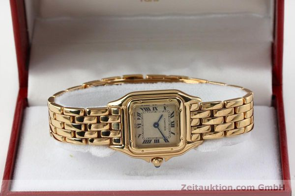 Used luxury watch Cartier Panthere 18 ct gold quartz Kal. 057  | 151866 07