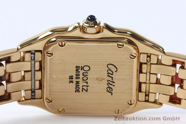 Used luxury watch Cartier Panthere 18 ct gold quartz Kal. 057  | 151866 09