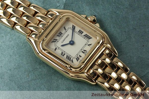 Used luxury watch Cartier Panthere 18 ct gold quartz Kal. 057  | 151866 13