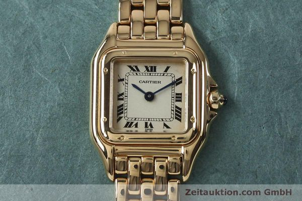 Used luxury watch Cartier Panthere 18 ct gold quartz Kal. 057  | 151866 14