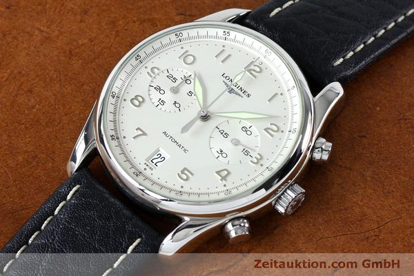 Used luxury watch Longines Avigation chronograph steel automatic Kal. L651.3  ETA 2824-2 Ref. L2.620.4  | 151874 01