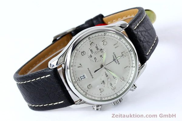 Used luxury watch Longines Avigation chronograph steel automatic Kal. L651.3  ETA 2824-2 Ref. L2.620.4  | 151874 03