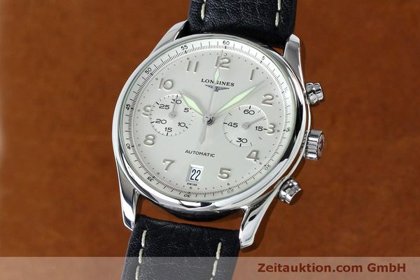 Used luxury watch Longines Avigation chronograph steel automatic Kal. L651.3  ETA 2824-2 Ref. L2.620.4  | 151874 04
