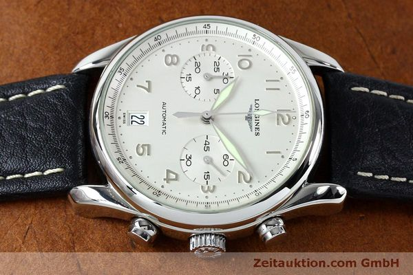 Used luxury watch Longines Avigation chronograph steel automatic Kal. L651.3  ETA 2824-2 Ref. L2.620.4  | 151874 05