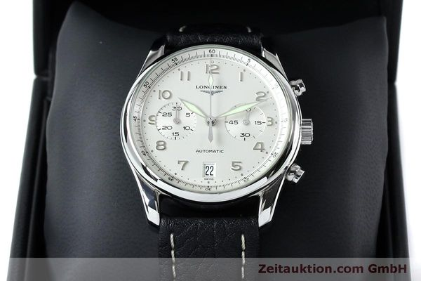 Used luxury watch Longines Avigation chronograph steel automatic Kal. L651.3  ETA 2824-2 Ref. L2.620.4  | 151874 07