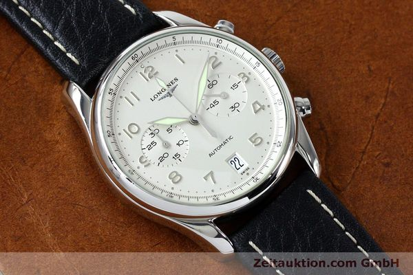 Used luxury watch Longines Avigation chronograph steel automatic Kal. L651.3  ETA 2824-2 Ref. L2.620.4  | 151874 12