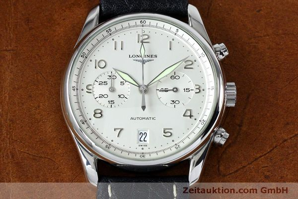 Used luxury watch Longines Avigation chronograph steel automatic Kal. L651.3  ETA 2824-2 Ref. L2.620.4  | 151874 13