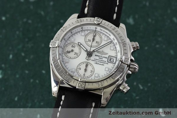 Used luxury watch Breitling Chronomat chronograph steel automatic Kal. B13 ETA 7750 Ref. A13357  | 151881 04