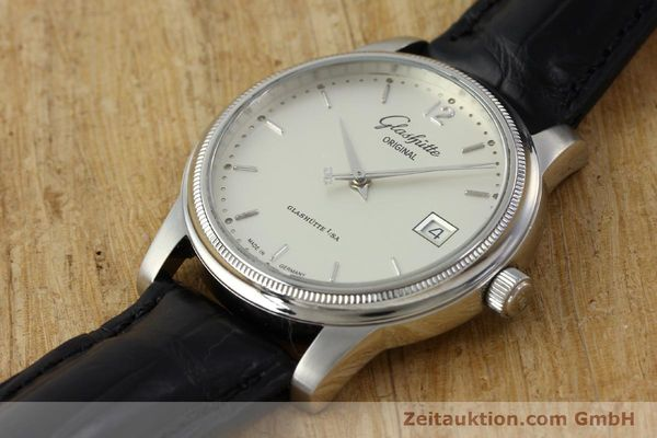 Used luxury watch Glashütte Senator steel automatic Kal. GUB 39  | 151927 01