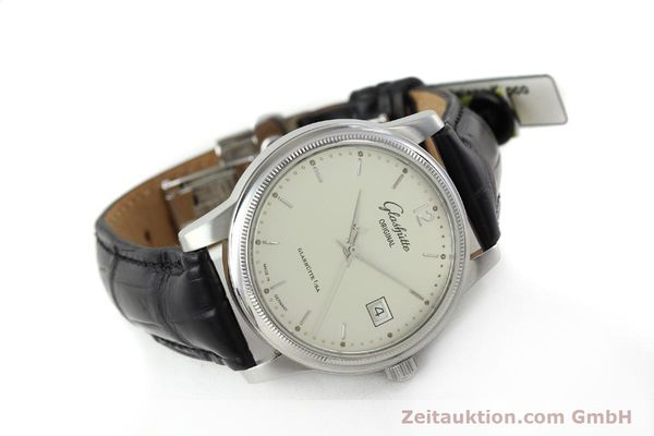 Used luxury watch Glashütte Senator steel automatic Kal. GUB 39  | 151927 03