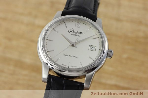 Used luxury watch Glashütte Senator steel automatic Kal. GUB 39  | 151927 04