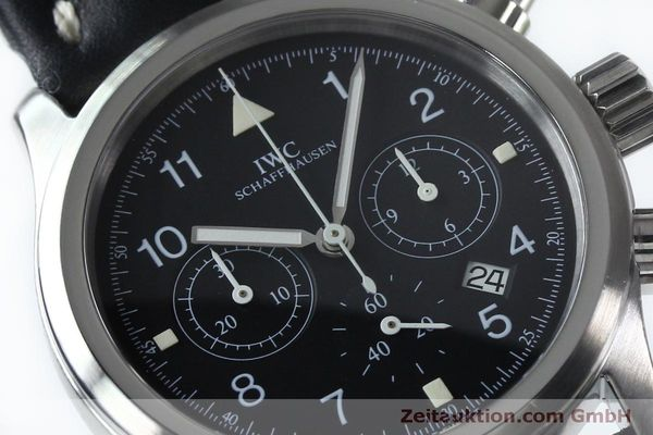 Used luxury watch IWC Fliegerchronograph chronograph steel quartz Kal. 630 Ref. 3741  | 151931 02