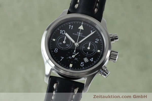 Used luxury watch IWC Fliegerchronograph chronograph steel quartz Kal. 630 Ref. 3741  | 151931 04