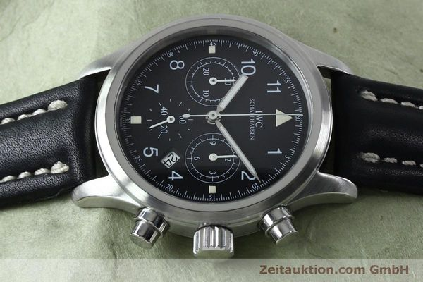 Used luxury watch IWC Fliegerchronograph chronograph steel quartz Kal. 630 Ref. 3741  | 151931 05