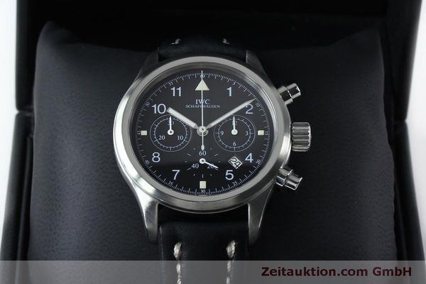 Used luxury watch IWC Fliegerchronograph chronograph steel quartz Kal. 630 Ref. 3741  | 151931 07