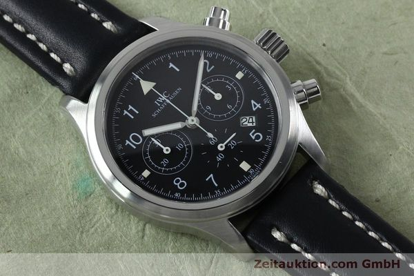 Used luxury watch IWC Fliegerchronograph chronograph steel quartz Kal. 630 Ref. 3741  | 151931 14