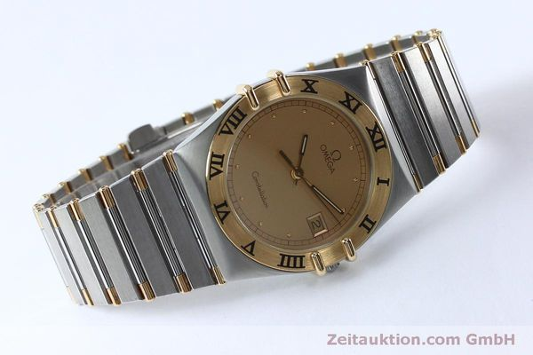 Used luxury watch Omega Constellation steel / gold quartz Kal. ETA 255561  | 151937 03