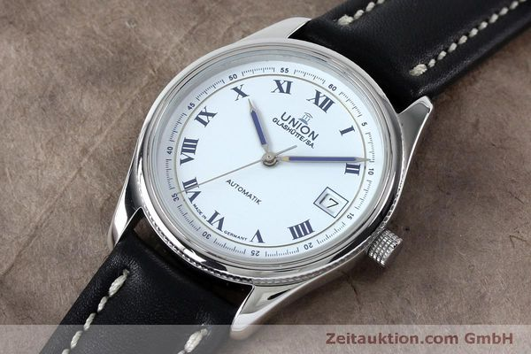 Used luxury watch Union Glashütte * steel automatic Kal. 26-11  | 151940 01