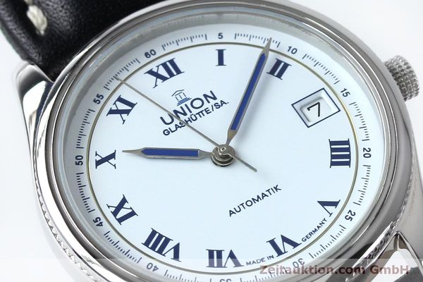 Used luxury watch Union Glashütte * steel automatic Kal. 26-11  | 151940 02