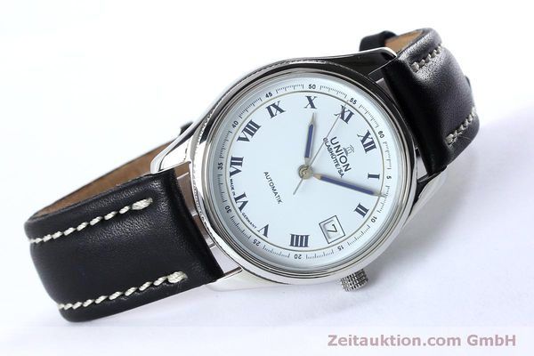 Used luxury watch Union Glashütte * steel automatic Kal. 26-11  | 151940 03