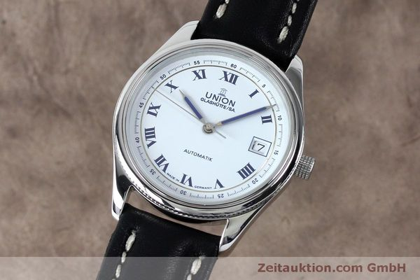 Used luxury watch Union Glashütte * steel automatic Kal. 26-11  | 151940 04