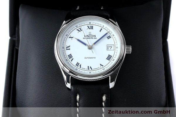 Used luxury watch Union Glashütte * steel automatic Kal. 26-11  | 151940 07
