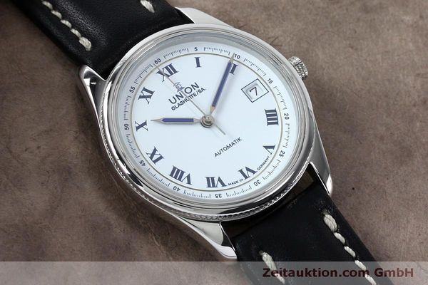 Used luxury watch Union Glashütte * steel automatic Kal. 26-11  | 151940 13